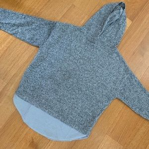 Zara Grey Girls Hooded Top size 8